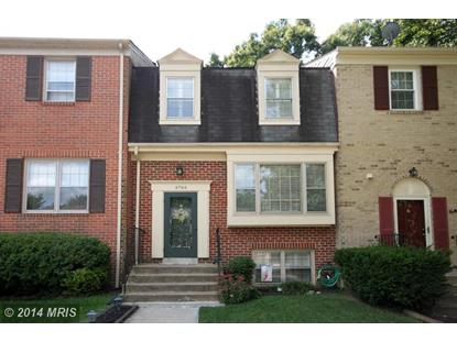 4744 GAINSBOROUGH DR Fairfax, VA MLS# FX8456374