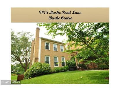 9815 BURKE POND LN Burke, VA MLS# FX8509862