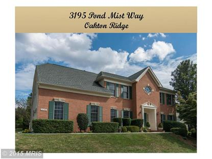 3195 POND MIST WAY Herndon, VA MLS# FX8744469