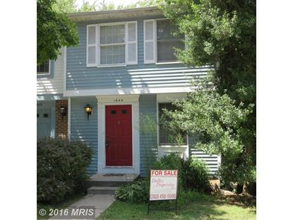 1644 HARVEST GREEN CT Reston, VA MLS# FX9739569