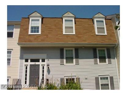 13 PICKERING CT #102 Germantown, MD 20874 MLS# MC8402401