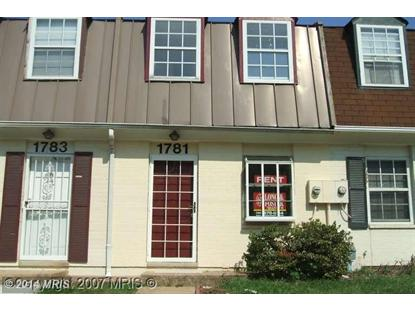 1781 VILLAGE GREEN DR #Y-88 Landover, MD 20785 MLS# PG8252539