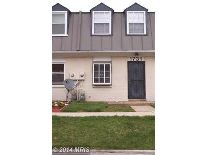 1731 VILLAGE GREEN DR #Z-42 Landover, MD 20785 MLS# PG8265329