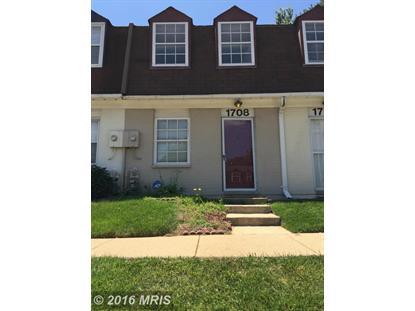 1708 VILLAGE GREEN DR #A-5 Landover, MD 20785 MLS# PG9736905