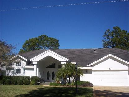 20 Peyton Place  Palm Coast, FL MLS# 202343
