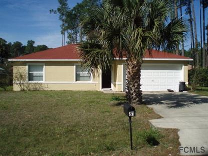 81 Brewster Lane  Palm Coast, FL 32137 MLS# 220131