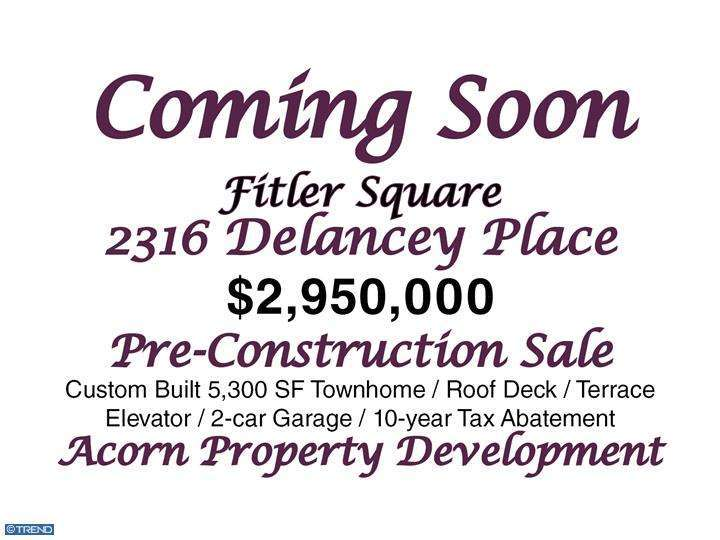 Property for sale at 2316 DELANCEY PL, Philadelphia,  PA 19103