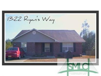 1322 Ryan's Way Pooler, GA 31322 MLS# 164254