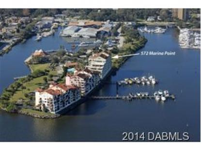 572 Marina Point Dr  Daytona Beach, FL MLS# 554153