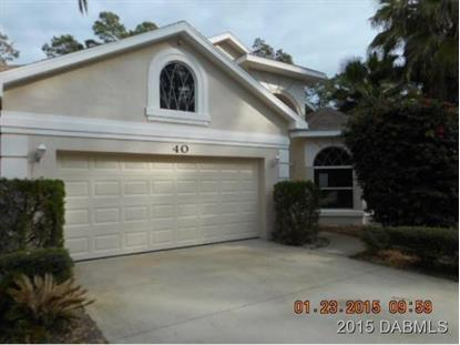 40 Eric Drive  Palm Coast, FL MLS# 568595
