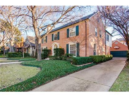 3419 Drexel Drive  Highland Park, TX MLS# 13303409