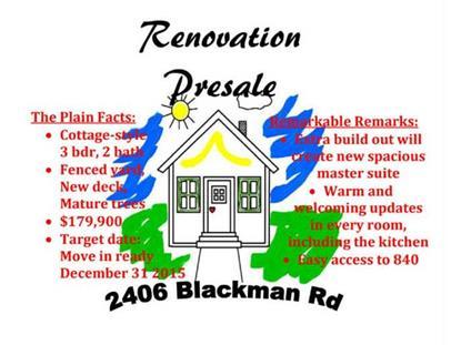 2406 Blackman Rd Murfreesboro, TN MLS# 1680825
