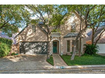 54 HAVERHILL WAY  San Antonio, TX MLS# 1082596