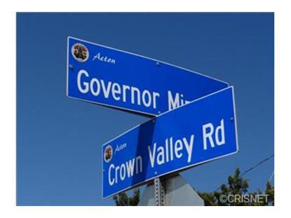 0 Vac/Governor Mine Rd/Vic Crown  Acton, CA MLS# SR14153768