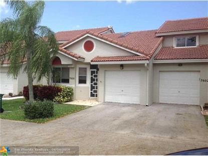 7600 S Pinewalk Dr  Margate, FL MLS# F10003345