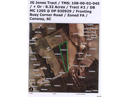 NW Busy Corner Rd.  Conway, SC MLS# 1506307