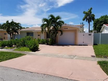 704 SW 6th Ave  Hallandale, FL MLS# A10535672