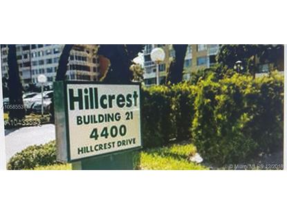 4400 Hillcrest Dr  Hollywood, FL MLS# A10585537