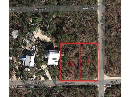 VACANT LAND LOT 16 AVON AVE  Summerland Key, FL MLS# A11025998