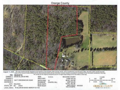 10 C D Farms Road Hillsborough, NC MLS# 2337072