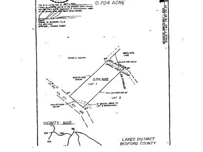 Lot 1 Horseshoe Bend RD Goodview, VA MLS# 858363