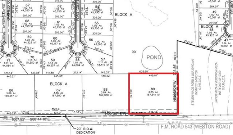 Lot 87 TBD FM 543, Weston, TX 75097