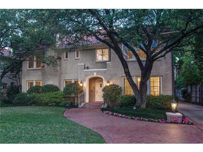 4327 Beverly Drive  Highland Park, TX MLS# 13507353