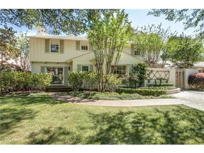4565 Bordeaux Avenue  Highland Park, TX MLS# 13594530