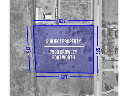 7500 Crowley Road  Fort Worth, TX MLS# 13760306