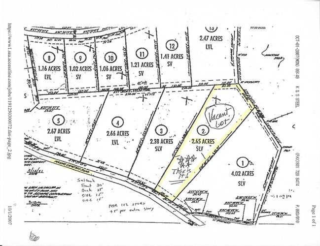0 MAJORS CEMETERY RD- LOT 2, Lynchburg, TN 37352