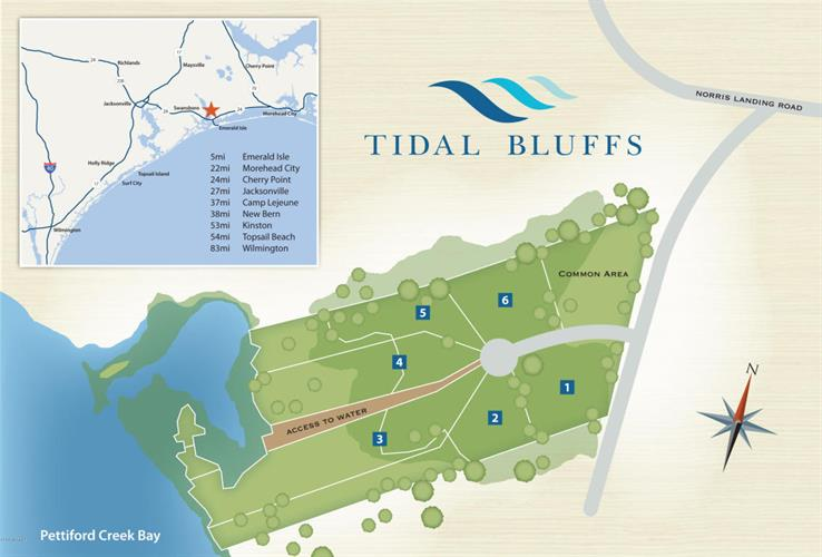 Lot 6 Tidal Bluffs Court, Peletier, NC 28584 - Image 1