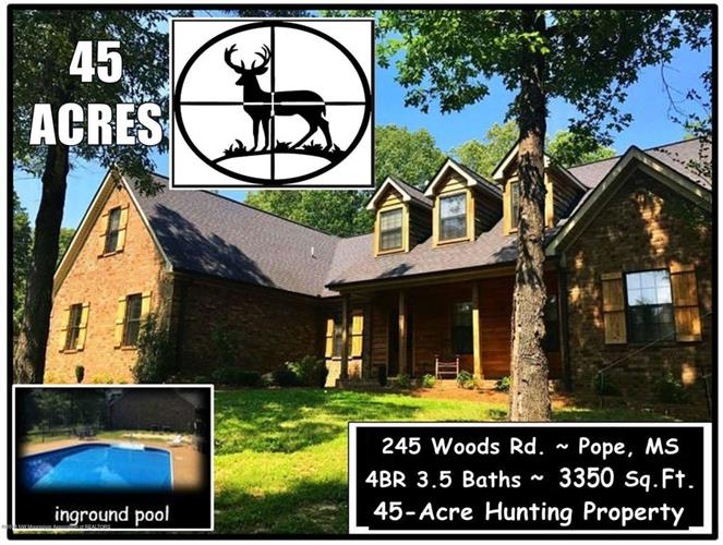 245 Woods Road, Pope, MS 38658