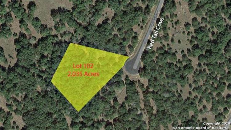 0 (LOT 102) Red Tail Cove, Spring Branch, TX 78070