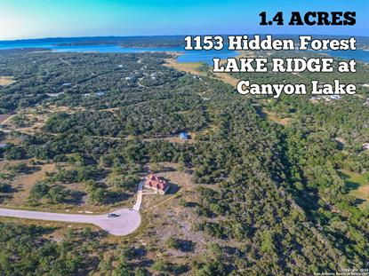 1153 Hidden Forest  Canyon Lake, TX MLS# 1459282