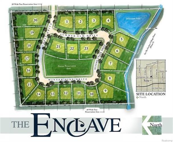 LOT# 1 - 23 The Enclave, Shelby Twp, MI 48315