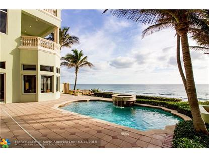 9 Ocean Pl  Highland Beach, FL MLS# F10091918