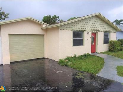 513 SW 73rd Ave  North Lauderdale, FL MLS# F10118392