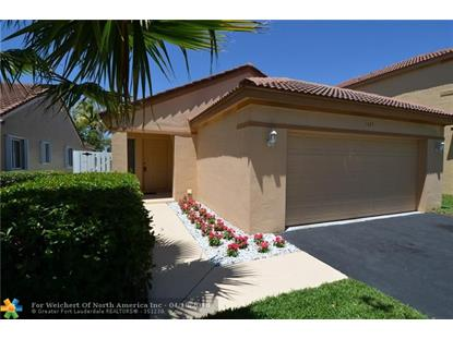 1425 Mira Vista Cir  Weston, FL MLS# F10118721