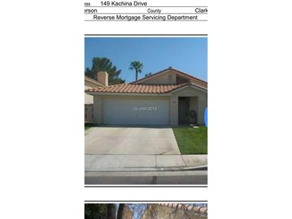 149 KACHINA Drive Henderson, NV MLS# 2030686