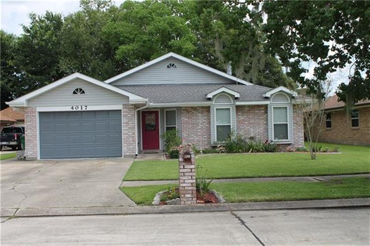 4017 HUGO Drive, Marrero, LA 70072